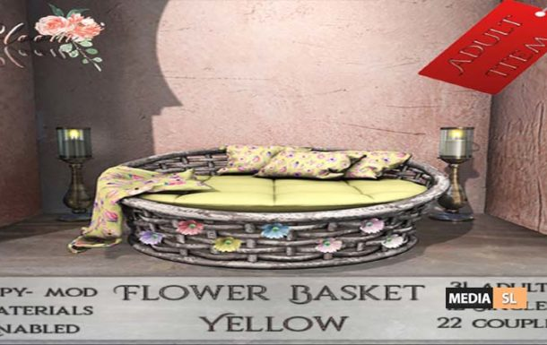 Bloom! – Flower Basket Yellow – NEW DECOR