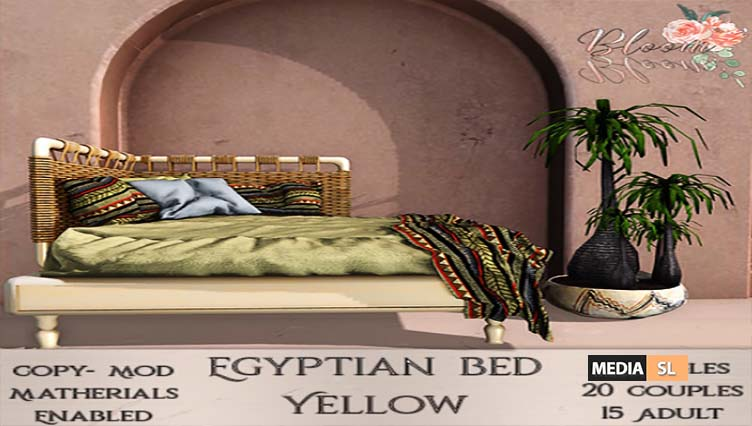 Bloom! – Egyptian Bed – NEW DECOR