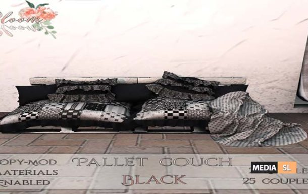 Bloom! – Pallet Couch Black – NEW DECOR