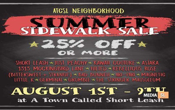 ATCSL Neighborhood Summer Sidewalk Sale – SALE