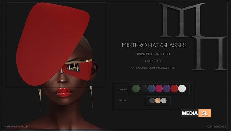 Mistero Hat&Glasses by Madame Noir  – NEW