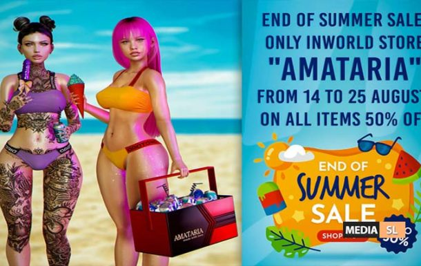 End Of Summer Sale! – From 14 to 25 August! – SALE