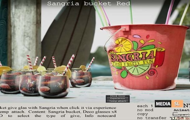 Sangria bucket Red – NEW