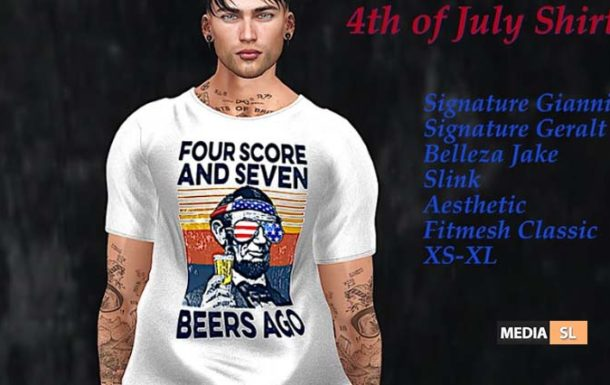 Tastic-Abe 4th of July Shirt!! – NEW MEN