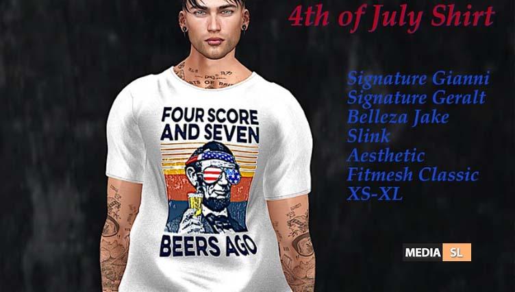 Tastic-Abe 4th of July Shirt!! – NEW MEN
