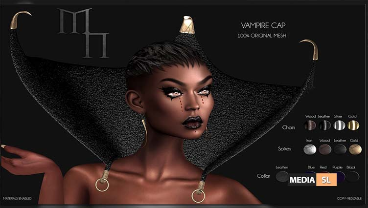 Vampire Cap by Madame Noir – NEW