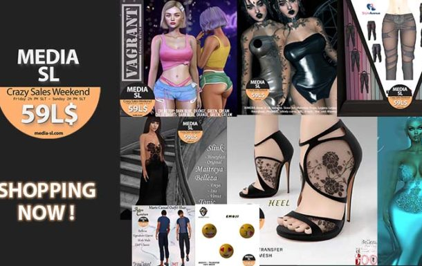 MEDIA SL CRAZY SALE WEEKEND – July 10-12TH