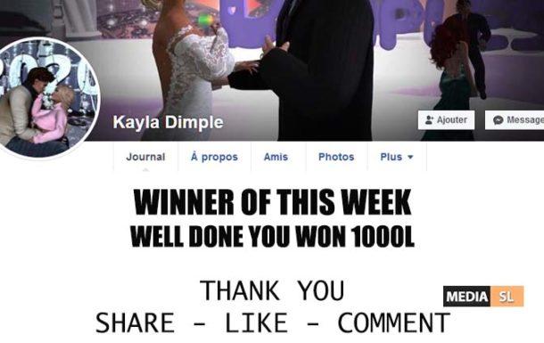 Winner of this week – Winner