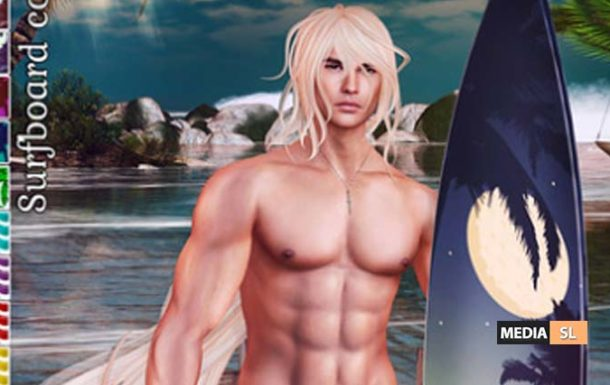 {Limerence} Surfboard with pose  – NEW MEN