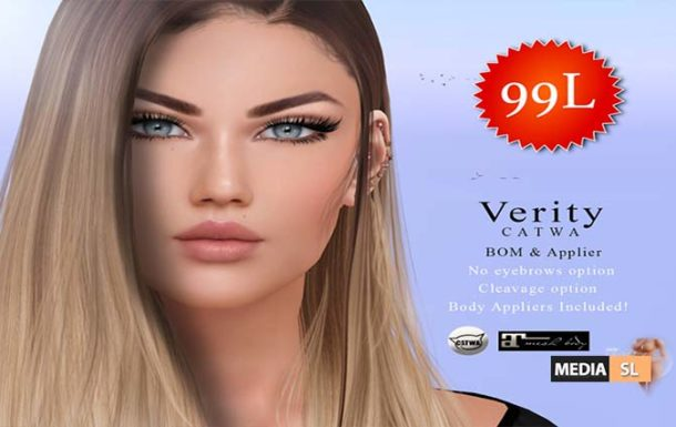 VERITY SKIN CATWA 99L UNTIL MONDAY  – SALE
