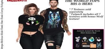 Animals around the world tops his & hers  – NEW