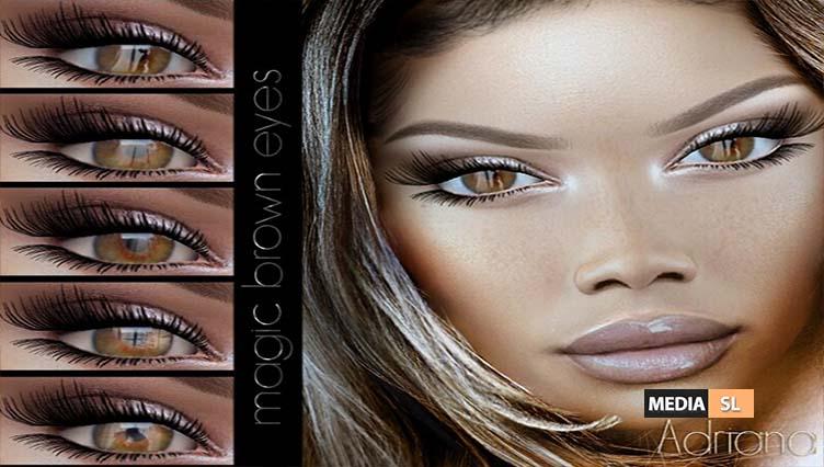 EYES-Adriana- magic brown eyes -CATWA – NEW