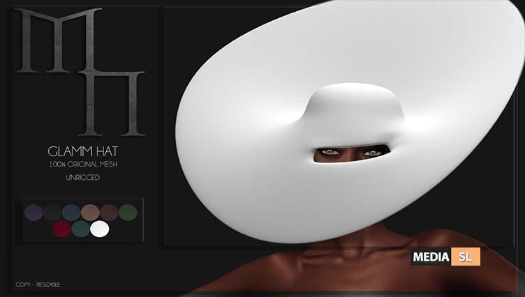 Glamm Hat by Madame Noir  – NEW