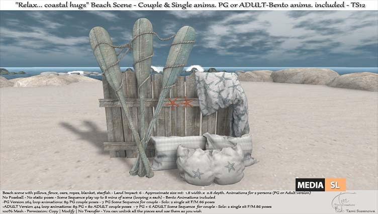 ".:Tm:.Creation ""Relax… coastal hugs"" Beach Scene TS12 – NEW DECOR"