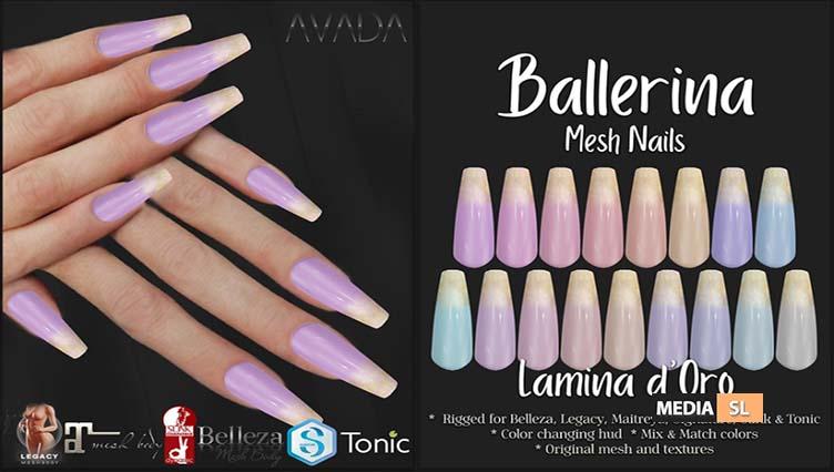 Ballerina Nails Lamina d'Oro – SALE