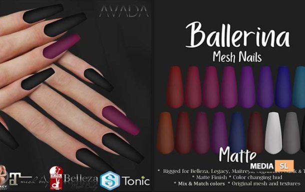Ballerina Nails Matte – NEW