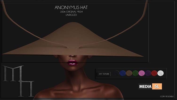 Anonymus Hat by Madame Noir @ Miix Event – NEW
