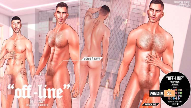 """""""Off-Line"""" x """"D!CK"""" Towel – NEW MEN"""