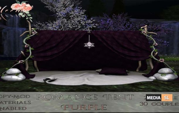Bloom! – Romance Tent Plum (PG) – NEW DECOR
