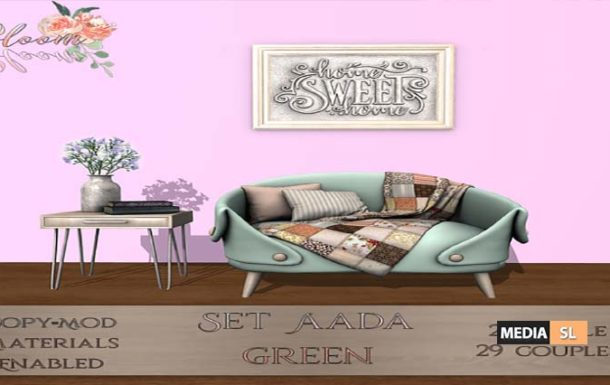 Bloom! – Set Aada Green – NEW DECOR