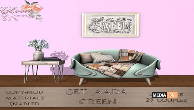 Bloom! – Set Aada Green – NEW DECOR