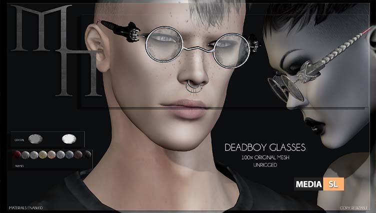 Deadboy Glasses by Madame Noir @The Men & Women Jail Event – NEW