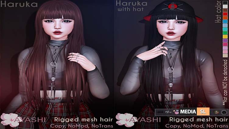 [^.^Ayashi^.^] Haruka hair with or without hat – NEW
