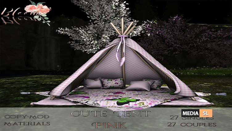 Bloom! – Cute Tent Pink– NEW DECOR