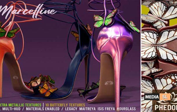 "Phedora. – ""Marcelline"" Butterfly Heels – NEW"