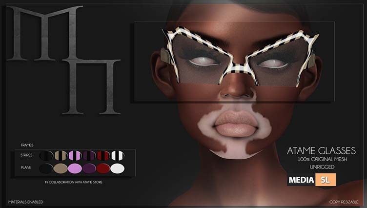 Atame Glasses by Madame Noir @ XXX Original Event – NEW