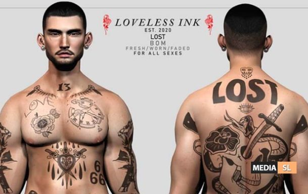 Loveless Ink – Lost – NEW MEN