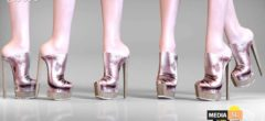 Remezzo – Carol Heels Metal ROSEGOLD – SALE
