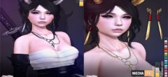 [^.^Ayashi^.^] Lamia hair & earrings & horns – NEW