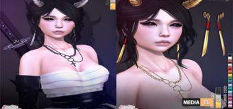 [^.^Ayashi^.^] Lamia hair & earrings & horns – NEW