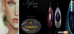 KUNGLERS – Sefora earrings – NEW