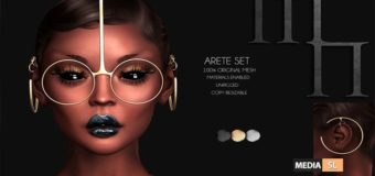 Arete Set by Madame Noir – NEW