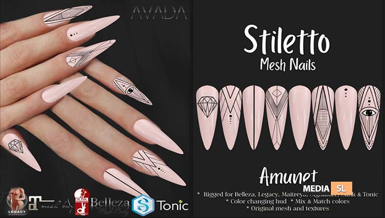Stiletto Nails Amunet – NEW