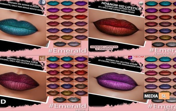 Emerald lipstick – NEW