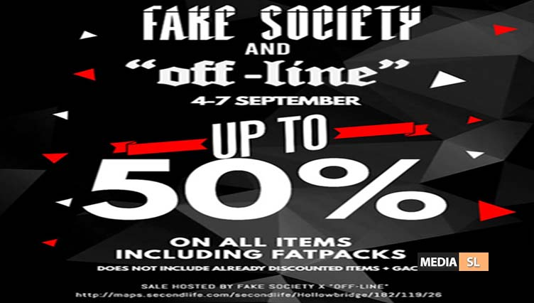 """""""Off-Line"""" x Fake Society 50% OFF SALE! – SALE"""